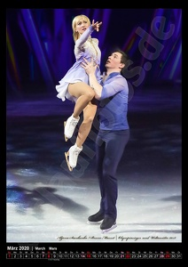 März-Kalenderblatt 2020 - Aljona Savchenko/Bruno Massot, Holiday on Ice 28-2-2019