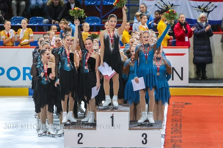 Junior 2. Starlights  USA_1. Skyliners  USA_3. Valley Bay Synchro FIN